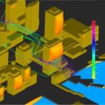 Flow around buildings